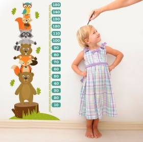 Vinyl and stickers for children height meter monsters