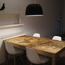 Vinyl for tables and furniture world map