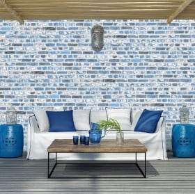 Wall murals of bricks