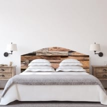 Vinyl headboards beds rustic wood texture