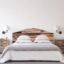 Vinyl headboards beds rustic wood texture