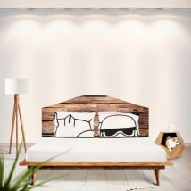 Vinyls headboards beds rustic wood