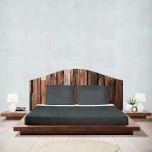 Adhesive vinyl headboards beds rustic wood