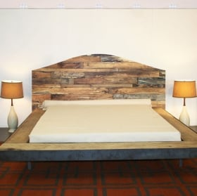 Adhesive vinyl headboards beds rustic wood
