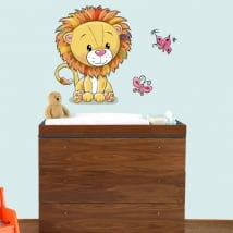 Baby or children's vinyl lion and butterflies