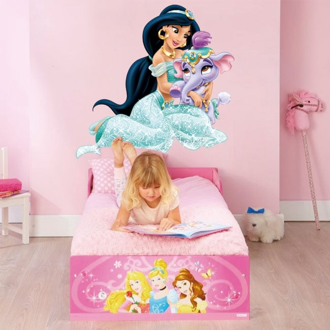 Vinyl children or youth princess jasmine and elephant