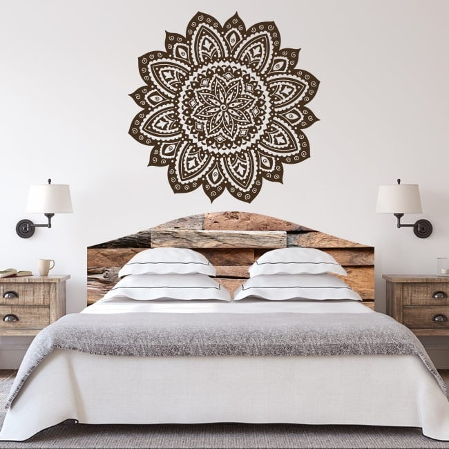 Vinyl mandalas for bed headboards