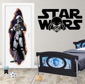 Vinyl for doors 3d star wars captain phasma