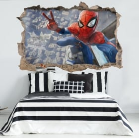 Decorative vinyl spiderman 3d
