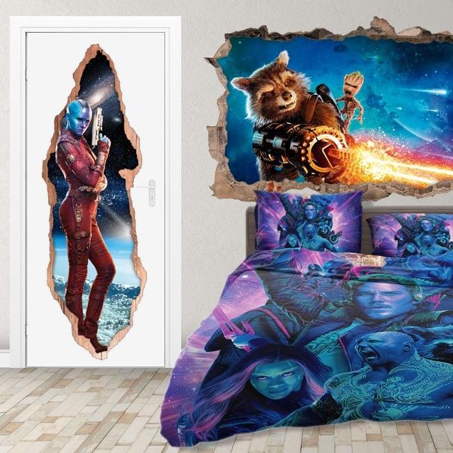 Vinyl doors 3d nebula guardians of the galaxy