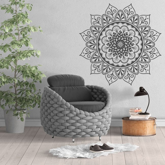 Decorative vinyl with mandalas