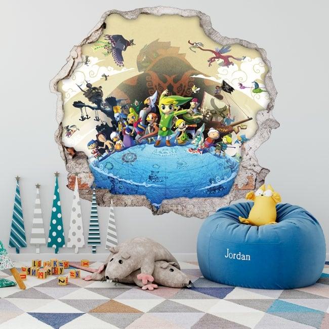 Decorative vinyl 3d video game the legend of zelda