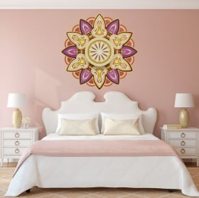 Vinyl and stickers with mandalas for headboard
