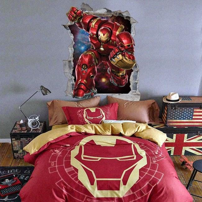 Decorative vinyl 3d marvel iron man