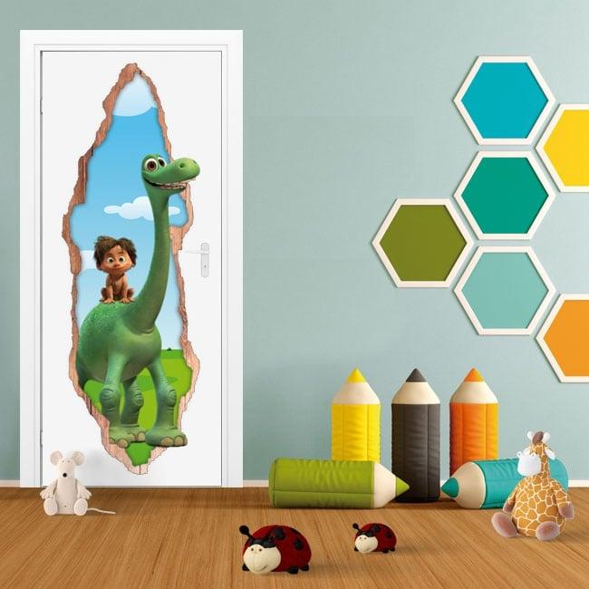 Children's vinyl 3d doors disney the journey of arlo