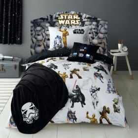 Vinyl headboards beds star wars