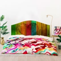 Vinyl headboards beds heart wood colors