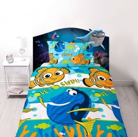 Children's vinyl disney nemo bed headboard