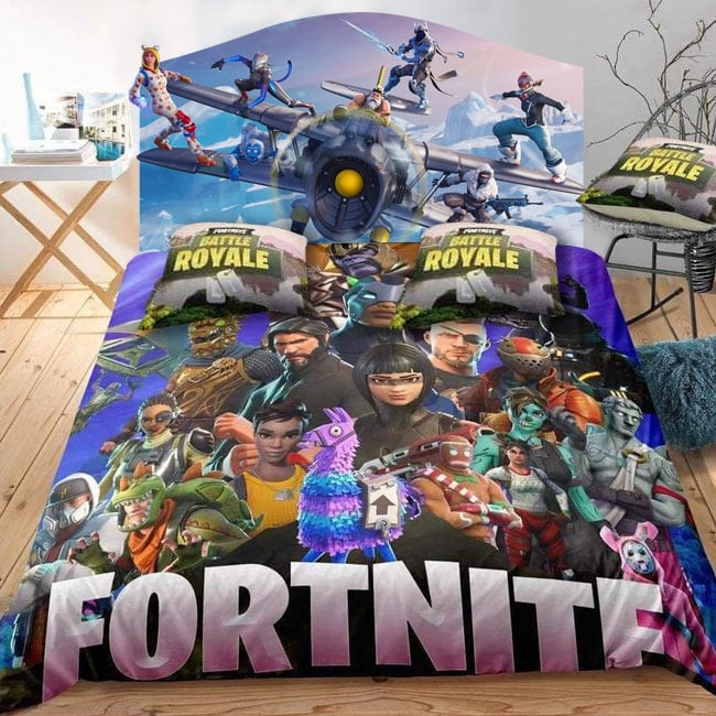 Vinyl video games fortnite headboard beds