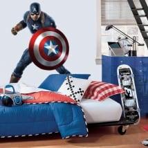 Decorative vinyl marvel captain america