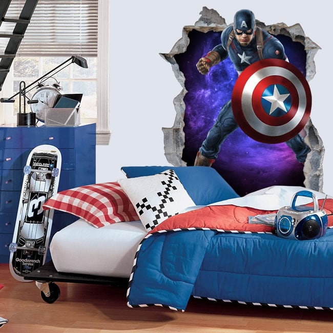 Decorative vinyl 3d marvel captain america