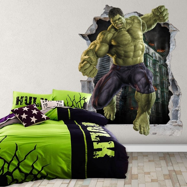 Decorative vinyl 3d marvel superhero hulk