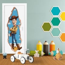 Children's vinyl 3d doors woody toy story
