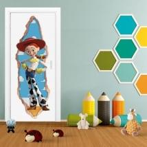 Vinyl children 3d doors jessie toy story