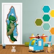 Vinyl doors 3d dinosaur rex toy story