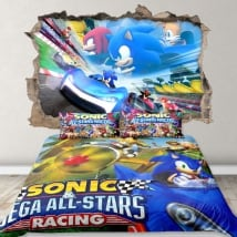 Vinyl 3d video game team sonic racing
