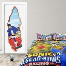 Vinyl doors 3d video game sonic