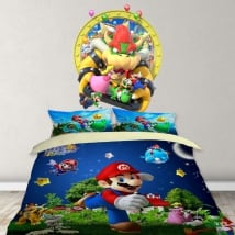 Decorative vinyl video game mario party