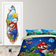 Vinyl doors 3d video game mario bros