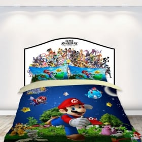 Vinyl headboards beds anime characters
