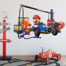 Vinyl decorative game mario kart