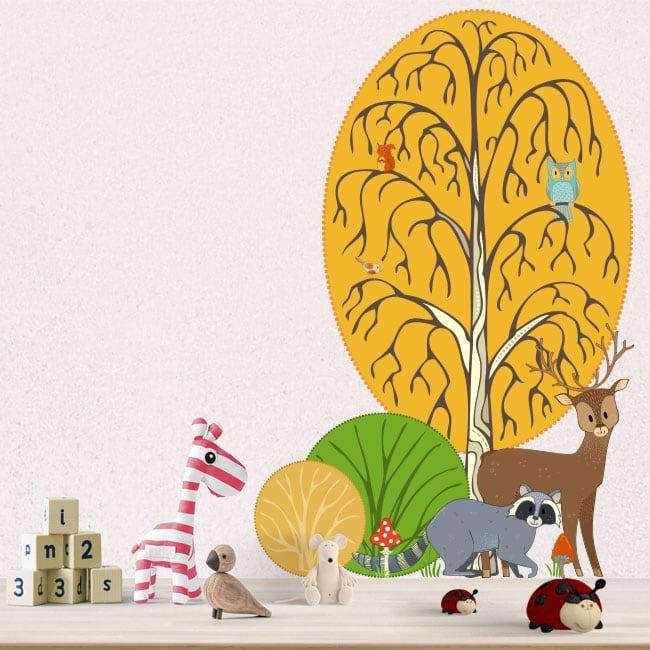 Vinyl children and youth forest animals