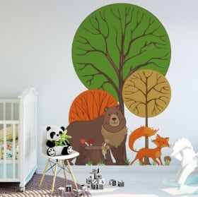 Decorative vinyl forest animals