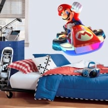 Vinyl and stickers video game mario kart