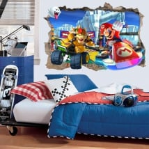 Decorative vinyl 3d video games mario kart