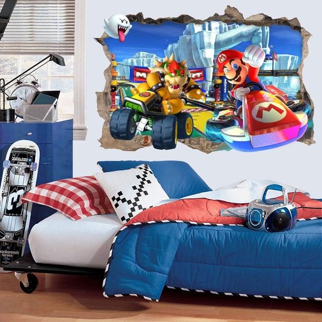 Decorative vinyl 3d video games mario kart
