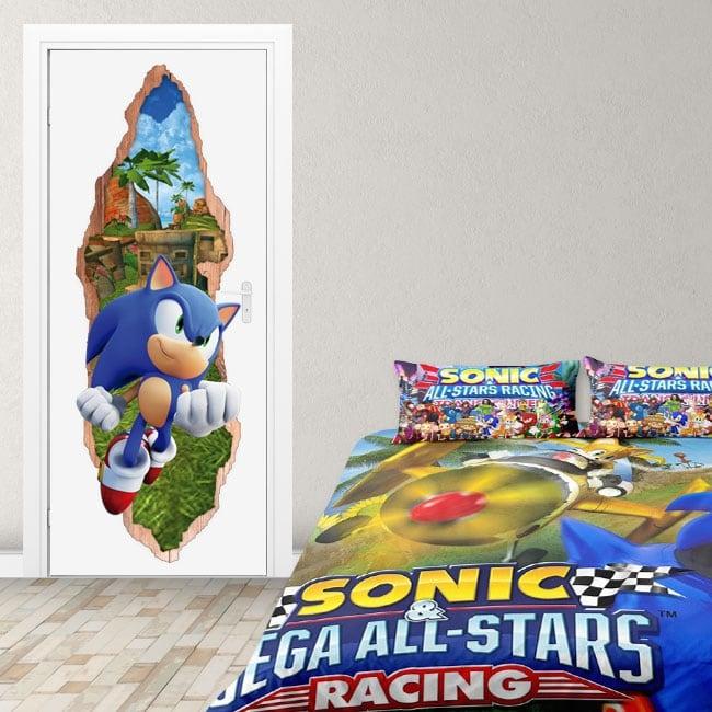 Vinyl for doors videogame sonic 3d