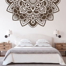 Wall stickers half of mandalas