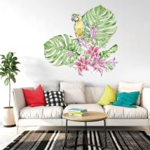 Wall stickers parrots or macaws in watercolor