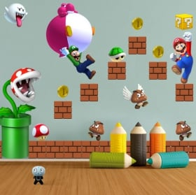 Vinyl and stickers for children or youth mario bros