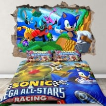 Decorative vinyl 3d sonic video game