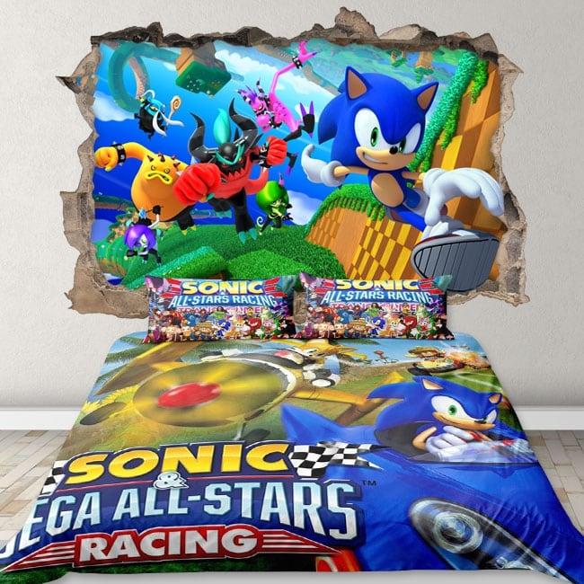 Decorative vinyl 3d sonic video game