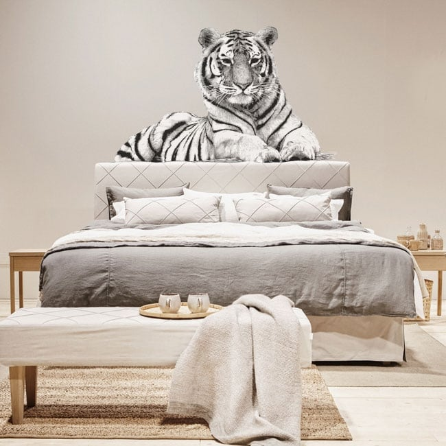 Wall stickers tiger silhouette