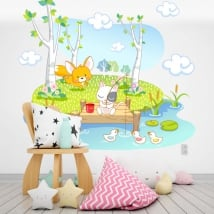 Vinyl and stickers for children animals fishing