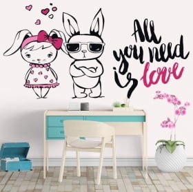 Adhesive vinyl phrases All You Need Is Love