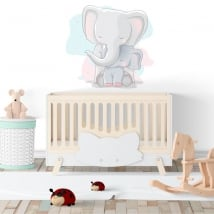 Baby or children's decorative vinyl elephants